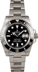 Certified Rolex Submariner 116610 Oyster Perpetual Watch