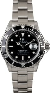 Men's Rolex Submariner 16610 Black Dial Bezel