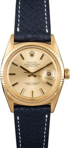 Datejust Rolex 1601 Yellow Gold Vintage