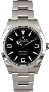 Used Rolex Explorer 214270 Luminescent Arabic Markers