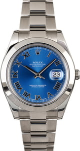 Used Rolex Datejust Blue Dial 116300