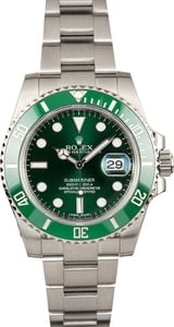 PreOwned Rolex Steel Submariner 116610V Green Ceramic 'Hulk'
