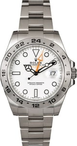 Pre Owned Rolex Explorer II Ref 216570 White Dial