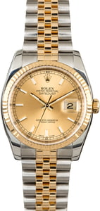 Unworn Rolex Datejust 116233 Champagne Index Dial