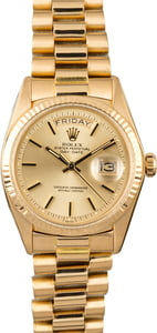 Men's Rolex President 1803 Champagne Index Dial