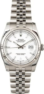 Used Rolex Datejust 116234 Steel and White Gold