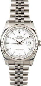 Certified Rolex Datejust 116234 Steel Jubilee