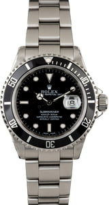 Used Rolex Submariner 16610 Oyster Perpetual Date