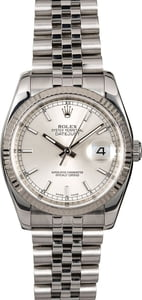 Rolex Datejust 116234 Silver Dial with Steel Jubilee