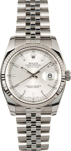 Used Rolex 116234 Datejust Silver Dial