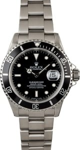 Used Rolex Submariner 16610 Steel Watch