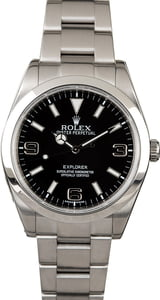 PreOwned Rolex Explorer 214270 Arabic Markers