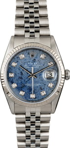 Used Rolex Datejust 16234 Lapis Diamond Dial