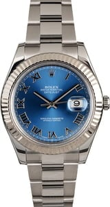 Used Rolex Datejust 116334 Blue Roman Dial