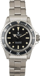 Vintage 1968 Rolex Submariner 5513 Black Dial