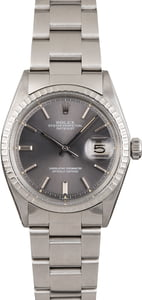 Used Rolex Steel Datejust 1603 Slate 'Pie Pan' Dial