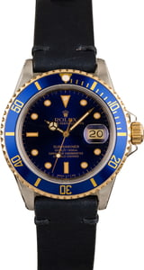 Used Rolex Submariner 16803 Leather Strap T