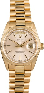 Used Rolex President 18038 Yellow Gold Men's Watch