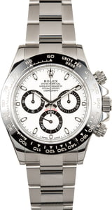 PreOwned Rolex Daytona 116500 White Dial with Ceramic Bezel