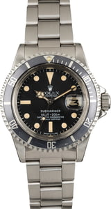 Vintage 1980 Rolex Submariner 1680 Stainless Steel