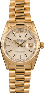 Used Rolex President 18038 Silver Index Dial