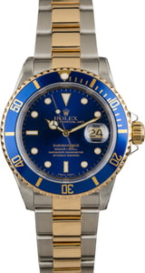 Pre-Owned Rolex Submariner Steel and Gold Blue Dial 16613