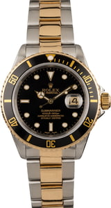 Pre Owned Rolex Submariner 16613 Black Timing Bezel