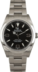 Certified PreOwned Rolex Explorer 214270 Stainless Steel