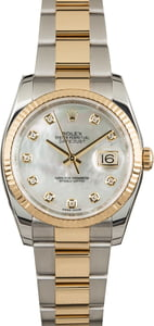 Unworn Rolex Datejust 116233 MOP Diamond Dial