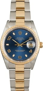 Pre Owned Rolex Date 15223 Blue Dial