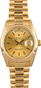 Rolex President 18028 Champagne Index Dial