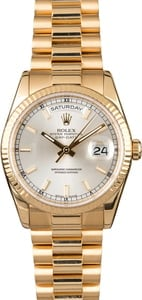 Rolex Day-Date 118238 Silver Luminous Dial