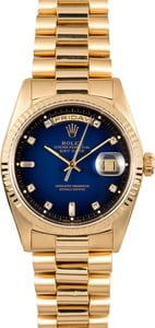 PreOwned Rolex Presidential 18238 Blue Vignette Diamond