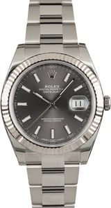 Rolex Datejust 41 Rhodium Dial 126334