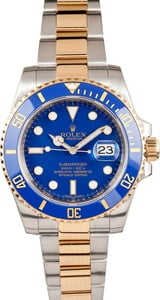 Rolex Submariner 116613 Two Tone Blue Dial