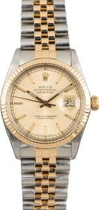 Used Rolex Datejust 16013 Tapestry Dial
