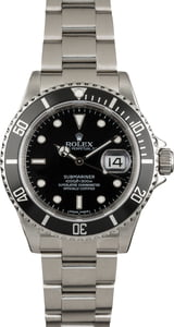 PreOwned Rolex Submariner 16610 Serial Engraved Men's Watch