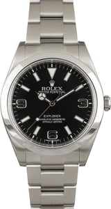 Used Rolex Explorer 214270 Stainless Steel Oyster Band