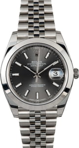 Used Rolex Datejust 126300 Rhodium Index Dial