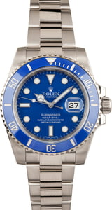 Used Rolex Submariner 116619 'Smurf' White Gold Oyster