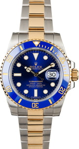 Pre Owned Rolex Submariner Two Tone 116613 Blue Ceramic Bezel