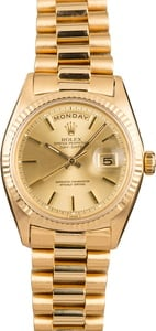 Pre-Owned Rolex President 1803 Champagne Pie-Pan Dial