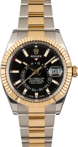 Rolex Sky-Dweller 326933 Black Dial Two Tone Oyster