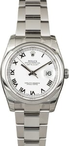 PreOwned Rolex 116200 Datejust White Roman