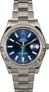 Rolex 41MM Datejust 116334 Blue