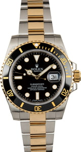 Used Rolex Submariner 116613 Black Ceramic Timing Bezel