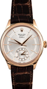 Used Rolex Cellini 50525 Silver Guilloche Dial