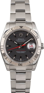 PreOwned Rolex Datejust 116264 Black Dial Thunderbird