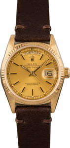 Rolex President 18038 Yellow Gold Fluted Bezel