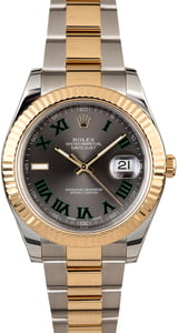 Rolex Datejust II Ref 116333 Two Tone with Fluted Bezel